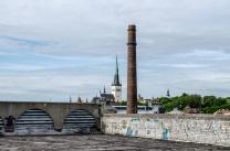 Estonie Tallinn Linahall eglise St- Olav et centre culturel