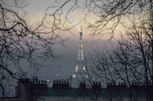 Paris 18° Montmartre Tour Eiffel