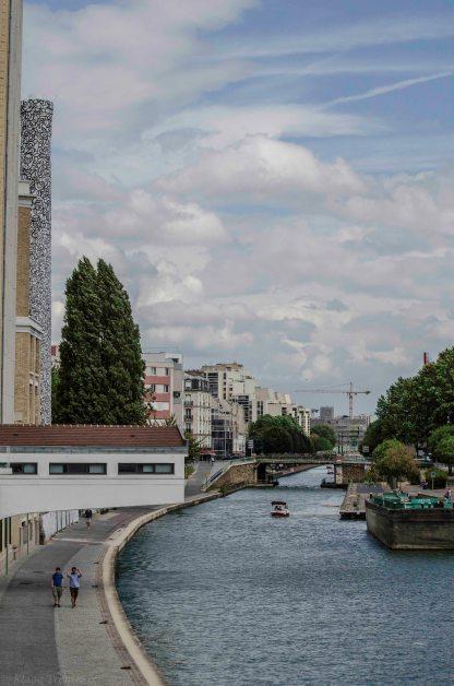 Paris Blanchisserie Elis canal de l ourcq Pantin