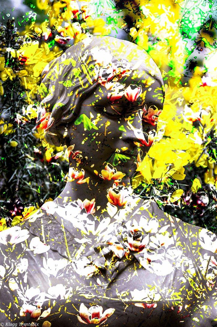 Le protrait aux fleurs